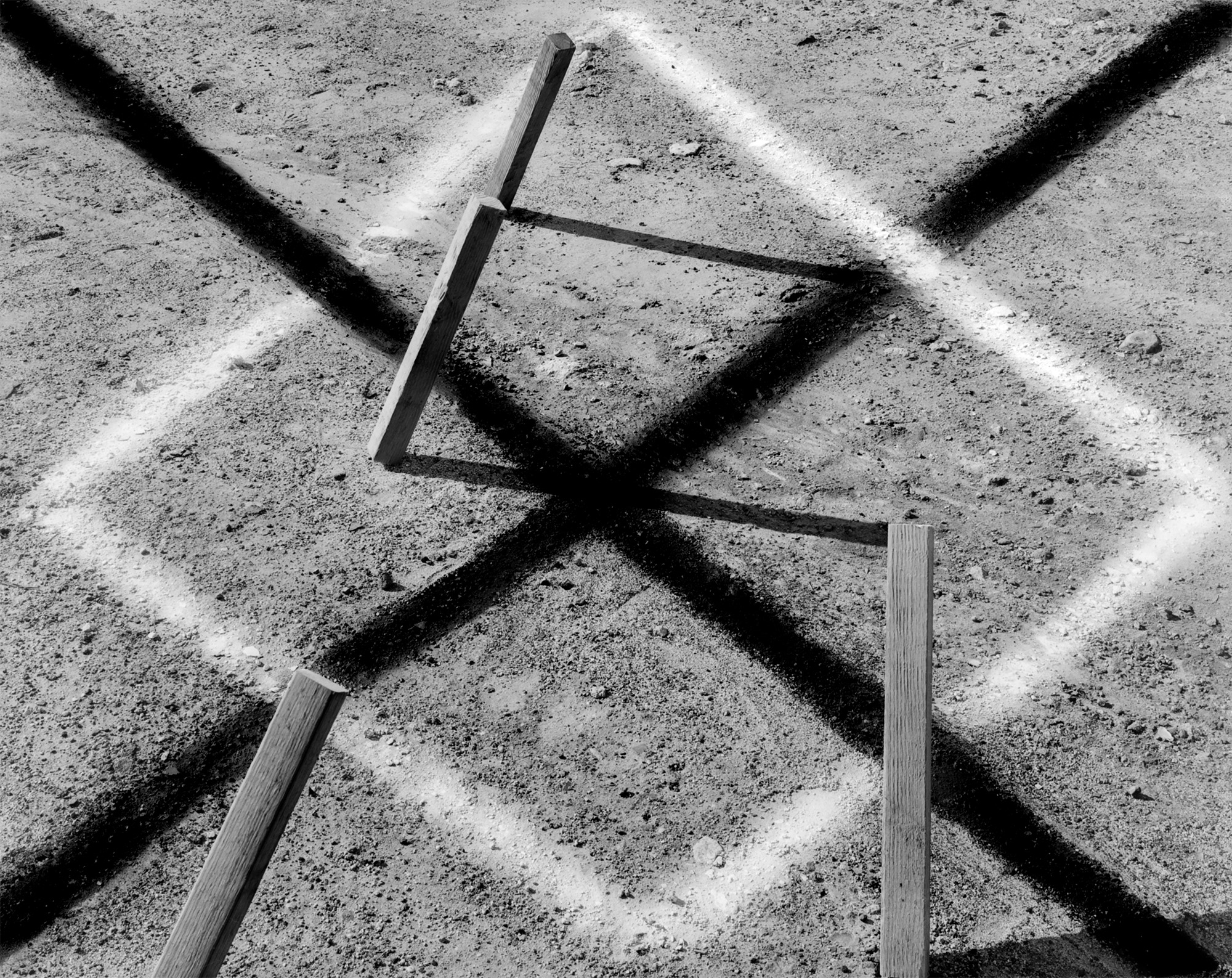 Stakes in Ground, Culver City, California, USA, 1978