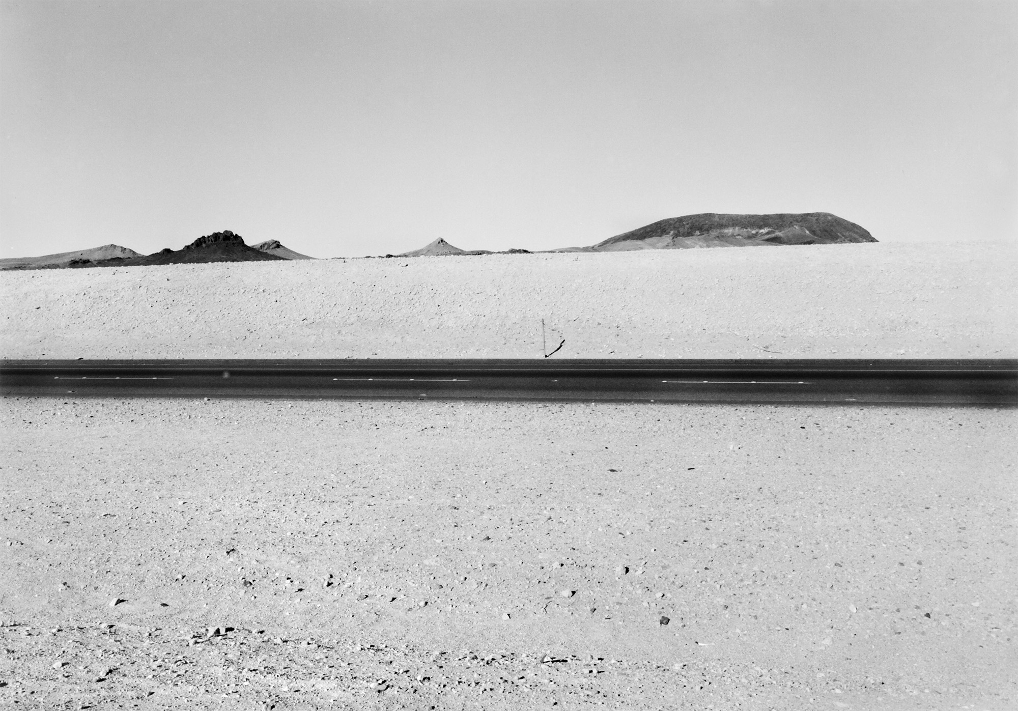 Interstate 14, near Las Vegas, Nevada, USA, 1977